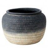 Maceta de cerámica degradado.