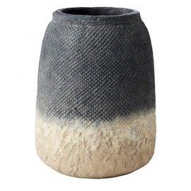 Maceta de cerámica degradado alta.