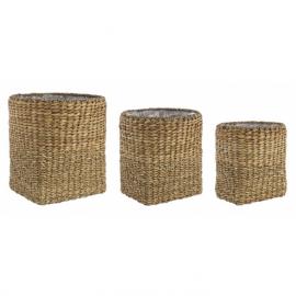 Maceta de fibras naturales. 3 tamaños.