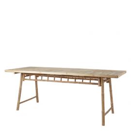 Mesa de comedor en bambú.