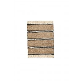 Alfombra de fibras naturales. 60x90 cm.