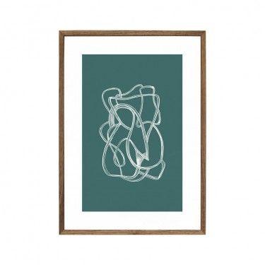 Ilustración abstracta blanco/verde