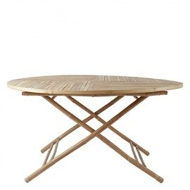 Mesa de comedor redonda de bambú. Ø150xH75 cm.