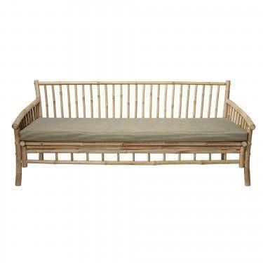 Sofá de bambú. 175x77x75 cm.