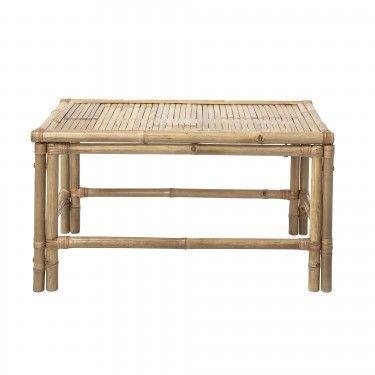 Mesas De Centro Para Exterior.Mesa De Centro Apta Para Exterior De Bambu Natural