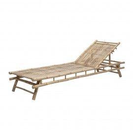 Tumbona de bambú. 220x74x33 cm.