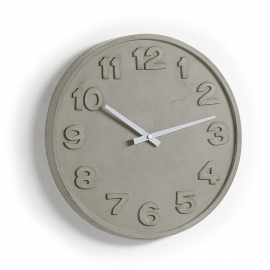 WALSO Reloj pared cemento gris