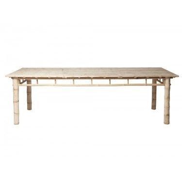 Mesa de comedor bambú. 250cm