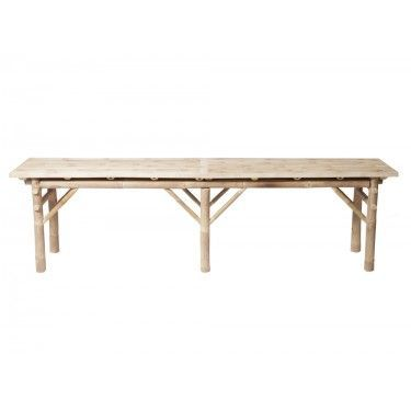 Banco en bambú. 170 cm.
