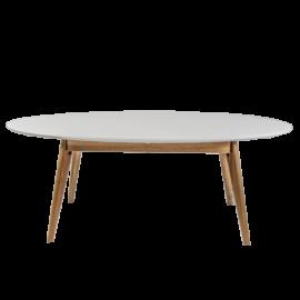 Mesa de centro oval estilo nórdico.