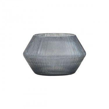 Vela de vidrio gris.