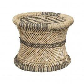 puf bambú natural.
