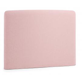 Cabecero LYDIA , colchón 90 tela rosa