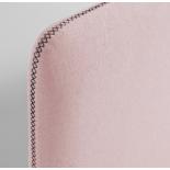 LYDIA Cabecero, colchón 90 tela rosa