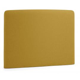 Cabecero LYDIA, colchón 90 tela mostaza