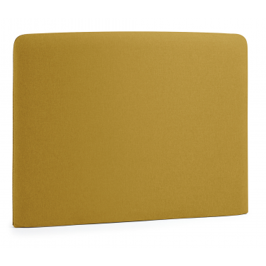 LYDIA Cabecero, colchón 90 tela mostaza