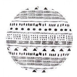 Bandeja redonda motivos geométricos.