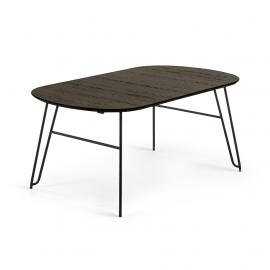 NORFORT Mesa 170(320)x100 metal negro madera negro