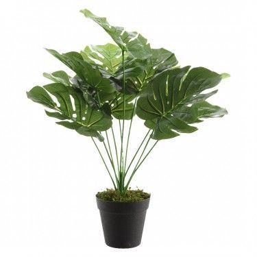 Planta monstera artificial.