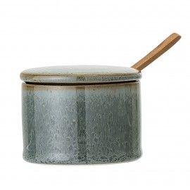 Azucarero de cerámica rústico.