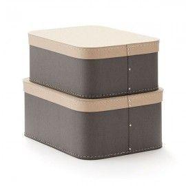 Cajas rectangulares gris.