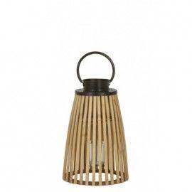 Portavelas de bambú.