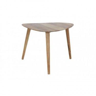 Mesa de centro madera natural.
