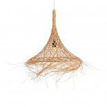 Lámpara de techo natural ratán.