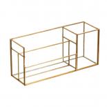 Caja de latón y cristal.