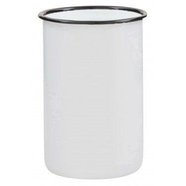 Vaso de baño retro esmaltado.
