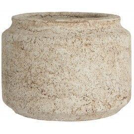 Maceta rústico de cerámica.