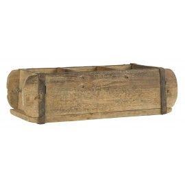 Caja estilo industrial de madera.