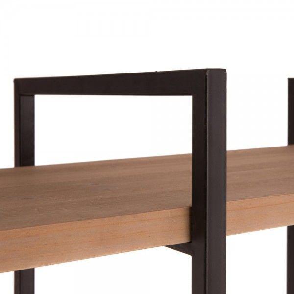 Estanter a 5 baldas madera abeto natural estructura hierro - Baldas y estanterias ...