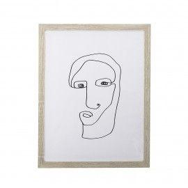 Lámina retrato abstracto.