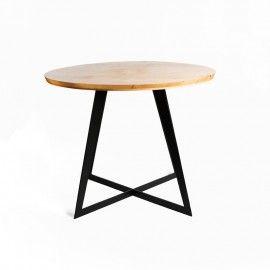 Mesa de comedor patas de hierro. ø100cm.