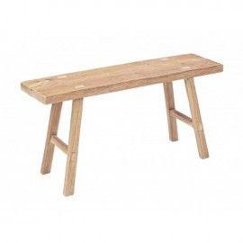 Banco madera de teka. 90x25x46 cm.