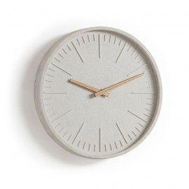 MID Reloj de pared poliresina gris