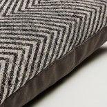 SPAIG Funda cojín 30x50 tela combinación negra