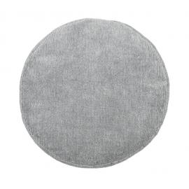 Cojín de asiento pana gris.