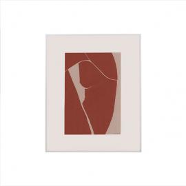 Ilustración desnudo en teja.