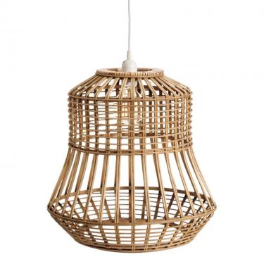 Lámpara de techo en bambú.