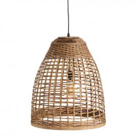 Lámpara techo de bambú.