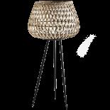 Macetero de bambú natural.