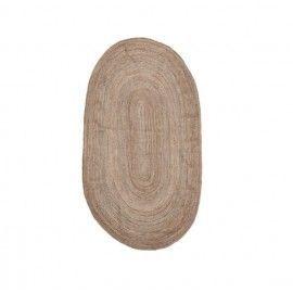 Alfombra ovalada de yute.150x90