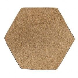 Posavasos hexagonal corcho.