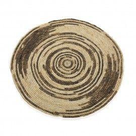 Alfombra redonda fibras naturales. Ø80 cm.