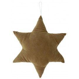 Cojín estrella ocre.