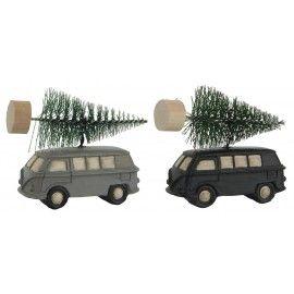 Set de adornos árbol coche.