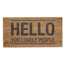 Felpudo Hello.