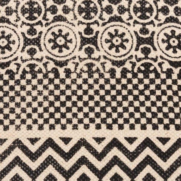 alfombra de algod n con dibujos geom tricos y flecos